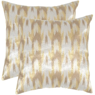 Boho Chic Throw Pillow Color: Metallic Silver