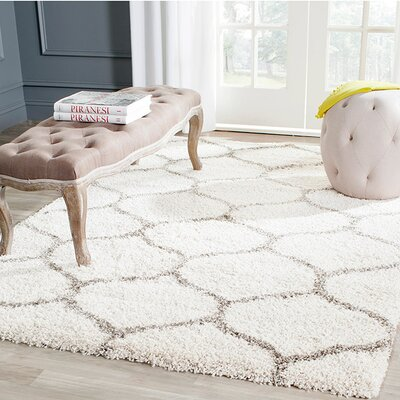Marco Ivory/Gray Area Rug Rug Size: Runner 23 x 16