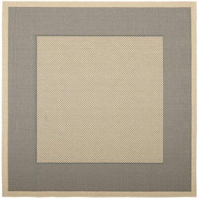 Courtyard Grey/Cream Indoor/Outdoor Rug Rug Size: Square 7'10