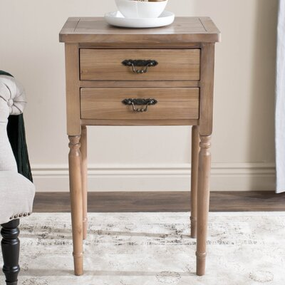 Cindy 2 Drawer Nightstand Color: Honey Natural