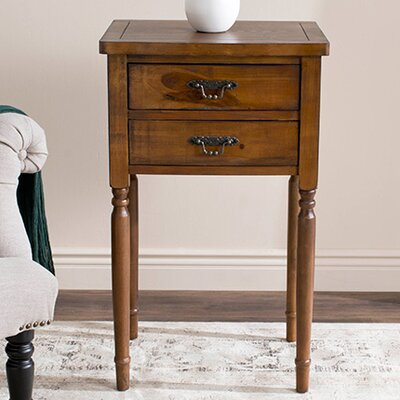Cindy 2 Drawer Nightstand Color: Brown