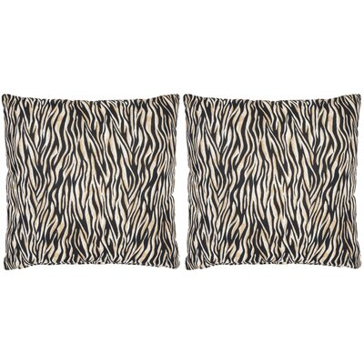 Drake Zebra Cotton Throw Pillow Size: 18 H x 18 W