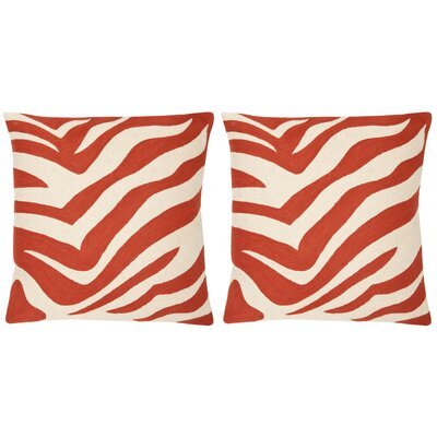 Jourdan Cotton Throw Pillow Size: 18 x 18, Color: Orange Sunburst