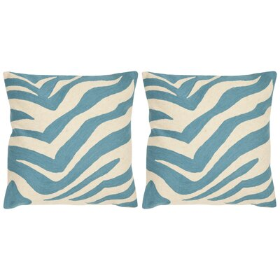 Jourdan Cotton Throw Pillow Size: 22 x 22, Color: Blue Rain