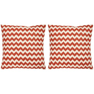 Jace Cotton Throw Pillow Color: Orange Sunburst, Size: 18