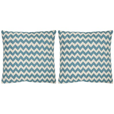 Jace Cotton Throw Pillow Size: 18 H x 18 W, Color: Blue Rain
