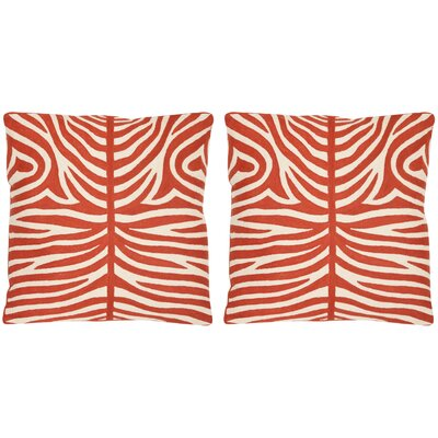 Easton Cotton Throw Pillow Size: 18 H x 18 W, Color: Orange Sunburst