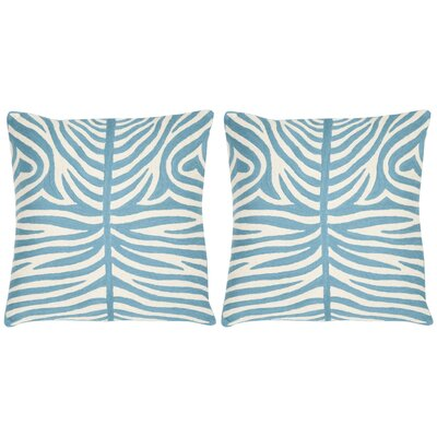 Easton Cotton Throw Pillow Size: 18 H x 18 W, Color: Blue Rain