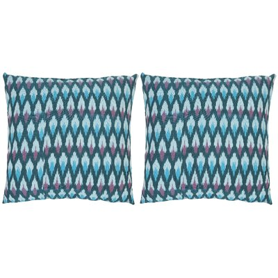 Taylor Ikat Diamond Cotton Throw Pillow Size: 18