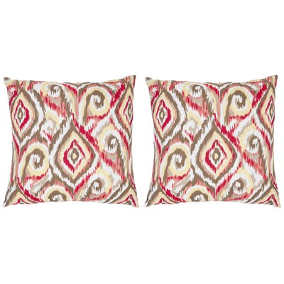 Joyce Cotton Throw Pillow Size: 18