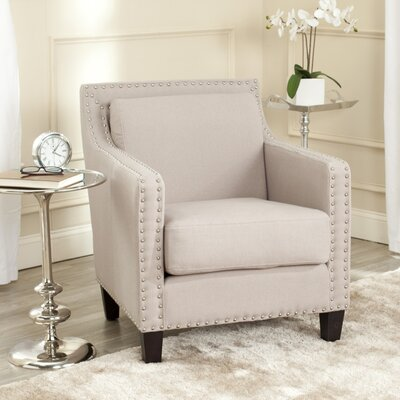 Lucy Arm Chair Color: Taupe/Java