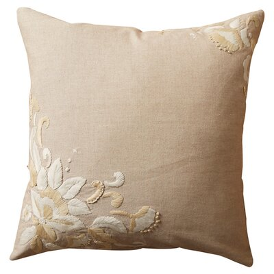 Victoria Cotton Throw Pillow Size: 18 H x 18 W x 2.5 D