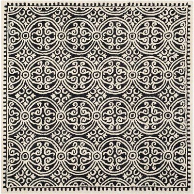 Safavieh Cambridge Black/Ivory Area Rug - Rug Size: Square 4'
