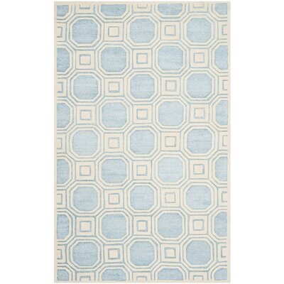 Precious Mist Blue/Beige Outdoor Area Rug Rug Size: Rectangle 4 x 6