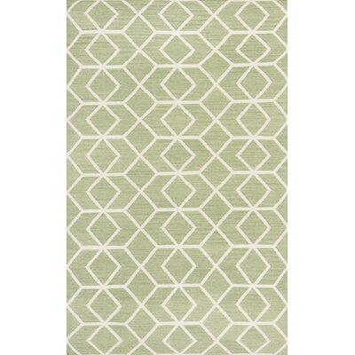 Dhurries Sage/Ivory Area Rug Rug Size: Rectangle 3 x 5