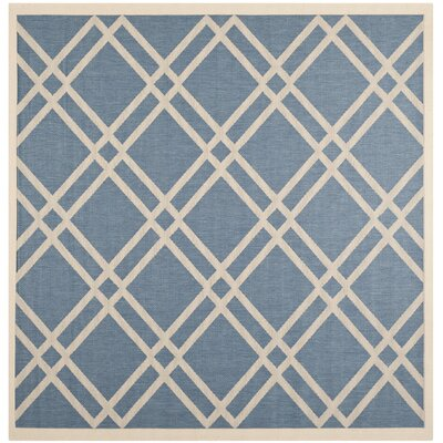 Jefferson Place Blue/Beige Outdoor Area Rug Rug Size: 4 x 57