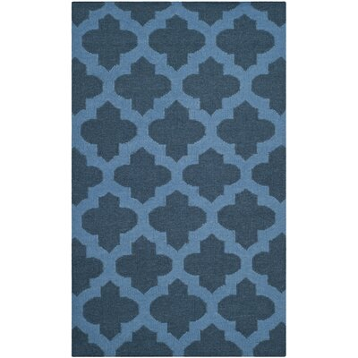 Dhurries Blue Area Rug Rug Size: 6 x 9