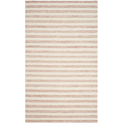 Dhurries Rust / Ivory Area Rug Rug Size: Rectangle 3 x 5