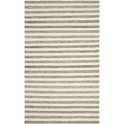 Dhurries Brown / Ivory Area Rug Rug Size: 6 x 9