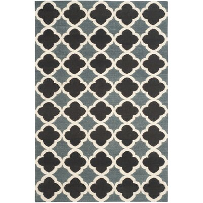 Dhurries Blue / Navy Area Rug Rug Size: 5 x 8