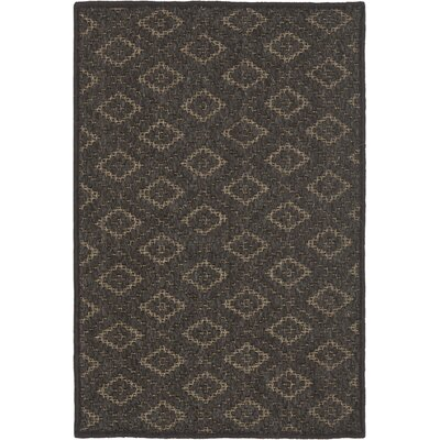 Diamond Brown Area Rug Rug Size: 4 x 6