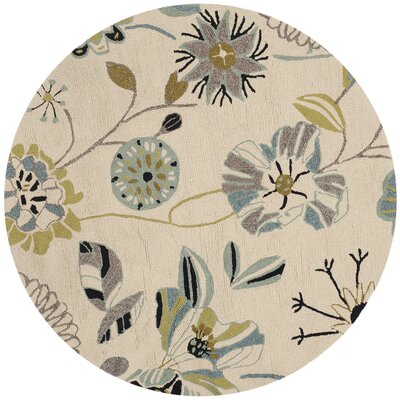 Doe Indoor/Outdoor Rug Rug Size: Round 4