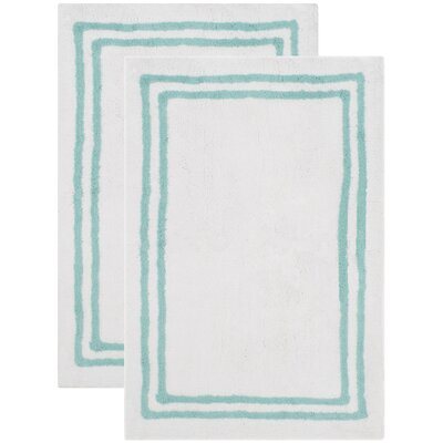Plush Master Bath Aqua Area Rug
