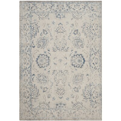 Nielsen Gray / Blue Area Rug Rug Size: Rectangle 3 x 5