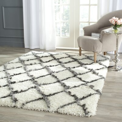 Sewell Moroccan Ivory Area Rug Rug Size: Rectangle 86 x 12