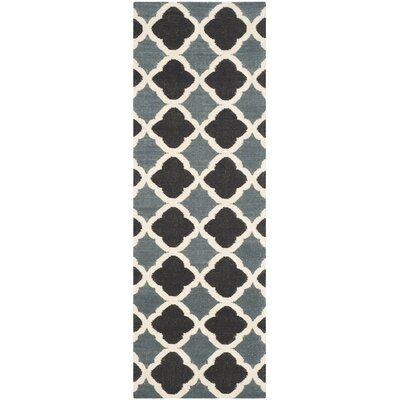 Dhurries Blue / Navy Area Rug Rug Size: Runner 26 x 8