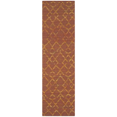 Straw Patch Rust / Gold Area Rug Rug Size: Runner 23 x 8