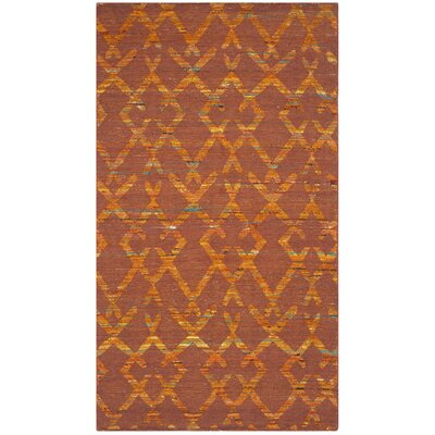 Straw Patch Rust / Gold Area Rug Rug Size: Rectangle 4 x 6