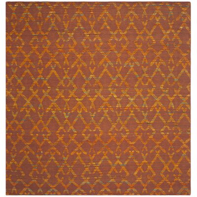 Straw Patch Rust / Gold Area Rug Rug Size: Square 7