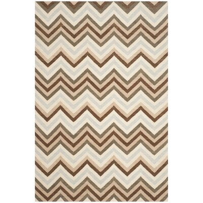 Dhurries Multi Area Rug Rug Size: 5 x 8