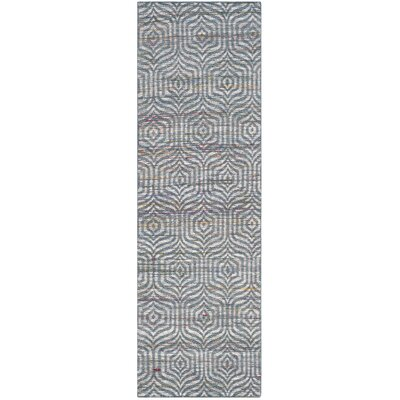 Straw Patch 200 Blue Area Rug Rug Size: Runner 23 x 8