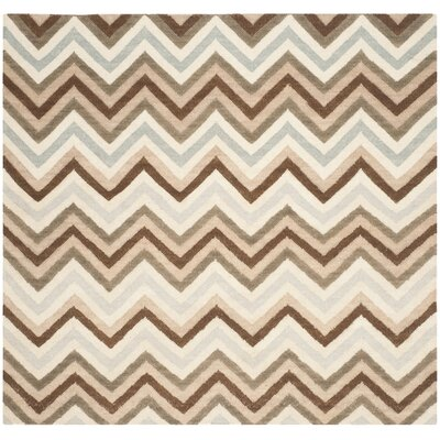 Dhurries Multi Area Rug Rug Size: Square 6