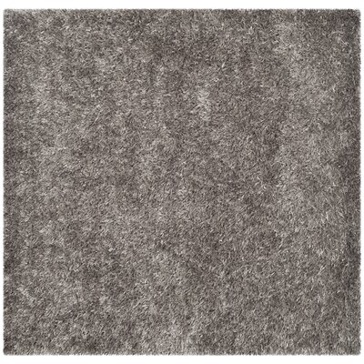 Cheevers Handmade Gray Area Rug Rug Size: Square 5