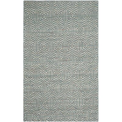 Straw Patch 200 Blue Area Rug Rug Size: 5 x 8