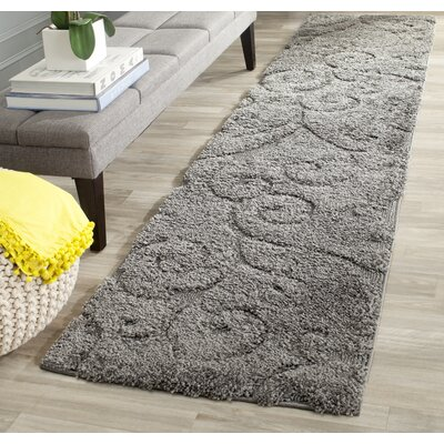 Biller Swirl Gray/Beige Area Rug Rug Size: Runner 23 x 11