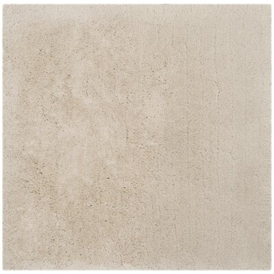 Dax Shag Hand-Tufted Beige Area Rug Rug Size: Square 5