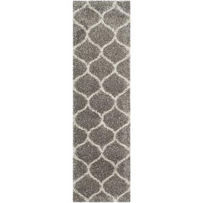 Elizabeth Street Gray/Ivory Area Rug Rug Size: Runner 23 x 10