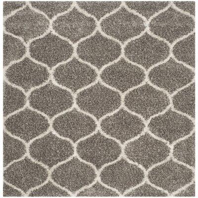 Elizabeth Street Gray / Ivory Area Rug Rug Size: Square 7 x 7