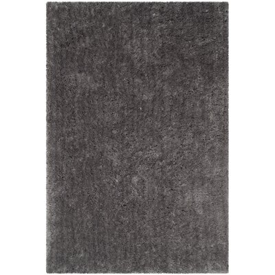Dax Shag Hand-Tufted Gray Area Rug Rug Size: Square 4
