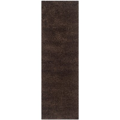 Rowen Brown Area Rug Rug Size: Runner 23 x 9