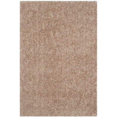 Bellar Shag Beige Area Rug Rug Size: Rectangle 6 x 9