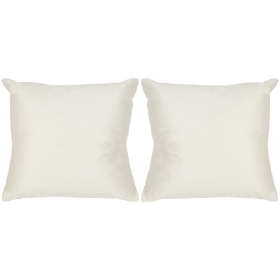 Luster Throw Pillow Color: Ivory