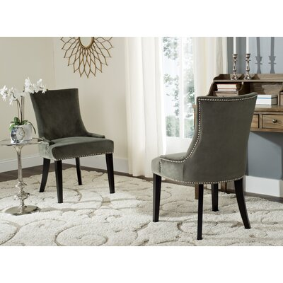 Carraway Upholstered Dining Chair Upholstery Color: Velvet Graphite