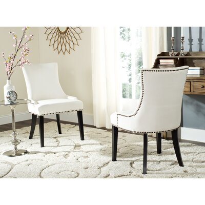 Carraway Upholstered Dining Chair Upholstery Color: Fabric White