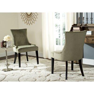 Carraway Upholstered Dining Chair Upholstery Color: Velvet Evergreen