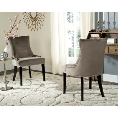 Carraway Upholstered Dining Chair Upholstery Color: Velvet Mushroom